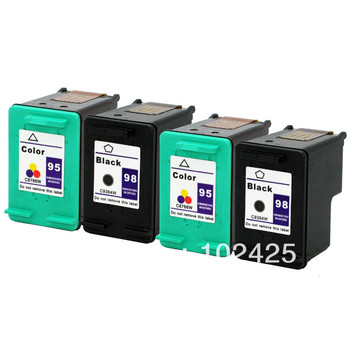 4 pk для hp 98 95 картридж для hp photosmart c4100 C4110 C4140 C4183 C4188 D5160 2570 2575 Officejet 6300 6313 6315 6310