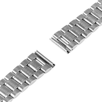 16mm 18mm 20mm 22mm 24mm Stainless Steel Watch Band Safety Buckle Watchband for Armani Wrist Belt Bracelet Black Gold Silver